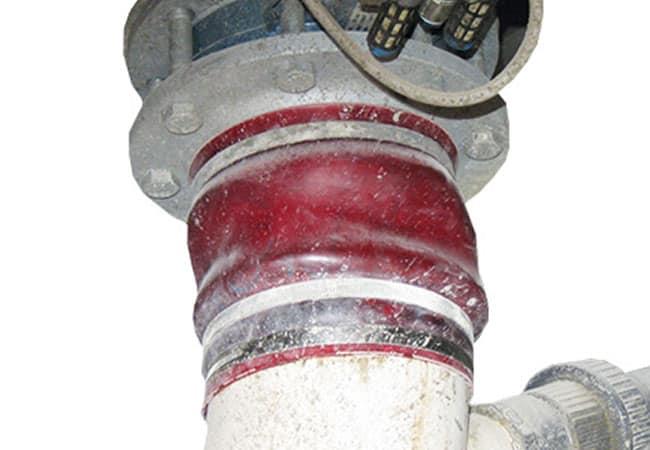 Übergangsmanschette Wasserwaage/Mischer.
